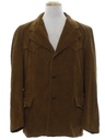 Mens Western Corduroy Car Coat Style Blazer Jacket