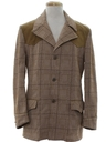 Mens Plaid Mod Western Leisure Style Blazer Sport Coat Jacket