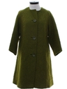 Womens Mod Wool Duster Coat Jacket