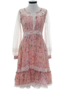 Womens Hippie Prairie Dress