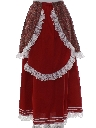 Womens Prairie Style Hippie Skirt