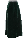 Womens Velveteen Hippie Skirt