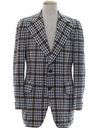 Mens Plaid Disco Blazer Sport Coat Jacket