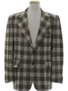 Mens Plaid Disco Blazer Sport Jacket
