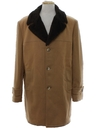 Mens Mod Car Coat Style Wool Overcoat Jacket