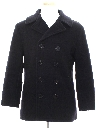 Unisex Navy Issue Wool Pea Coat Jacket