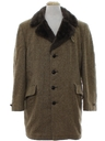 Mens Mod Car Coat Style Overcoat Jacket
