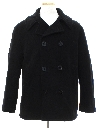 Mens Navy Issue Pea Coat Jacket