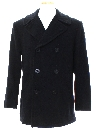 Mens Wool Pea Coat Jacket