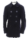 Unisex Mod Navy Issue Pea Coat Jacket