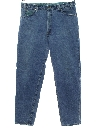 Mens Grunge Loose Fit Tapered Leg Denim Jeans Pants