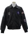 Mens MA-1 NASA Leather Flight Jacket