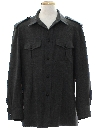 Mens Wool Military Style Shirt