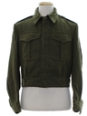 Mens Wool Military Ike (Eisenhower) Jacket