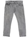 Mens Acid Washed Levis 501 Straight Leg Denim Jeans Pants
