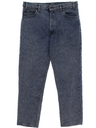 Mens Acid Washed Levis 540 Relaxed Straight Leg Denim Jeans Pants
