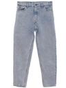 Mens Acid Washed Tapered Leg Jeans-cut Pants