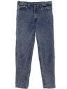 Mens Acid Washed Levis Denim Jeans Pants