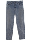 Mens Grunge Acid Washed Levis Tapered Denim Jeans Pants