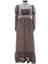 Womens Gunnesax Maxi Prairie Hippie Dress