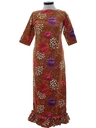 Womens Mod Maxi Hawaiian Dress