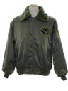 Mens Bomber Style Flight Jacket