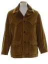 Mens Mod Western Corduroy Car Coat Jacket