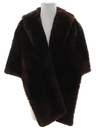 Womens Faux Fur Capelet Jacket