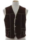 Mens Suede Leather Western Vest