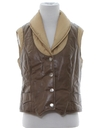 Womens Leather Ski Vest Jacket