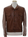 Mens Mod Leather Western Jacket