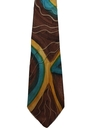 Mens Hand Painted Wide Swing Necktie