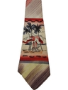 Mens Hawaiian Hand Painted Wide Swing Necktie