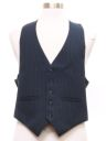 Mens Pinstriped Suit Vest