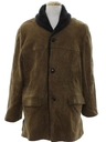 Mens Suede Leather Car Coat Jacket