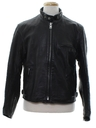 Mens Cafe Racer Style Motorcycle Leather Jacket