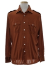 Mens Safari Style Solid Disco shirt