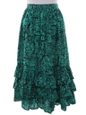 Womens Totally 80s Hippie Style Skirt