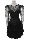 Womens or Girls Totally 80s Prom Or Cocktail Dress