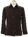 Mens Mod Solid Disco Shirt