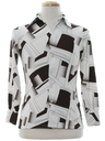 Mens/Boys Abstract Geometric Print Disco Shirt