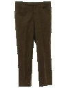 Mens Mod Wool Blend Flant Front Leisure Slacks Pants