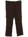 Mens Mod Flared Flat Front Slacks Pants