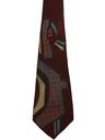 Mens Hand Painted Wide Swing Necktie