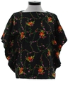 Womens Hawaiian Style Butterfly Hippie Shirt