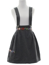 Womens Wool Dirndl Style Bavarian Jumper Dress