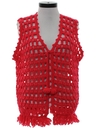Womens Crocheted Hippie Sweater Vest