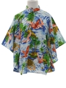 Womens Butterfly Style Hawaiian Caftan Shirt