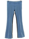 Mens Bellbottom Mod Western Style Leisure Pants