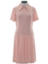 Womens Mod Knit Polka Dot Dress